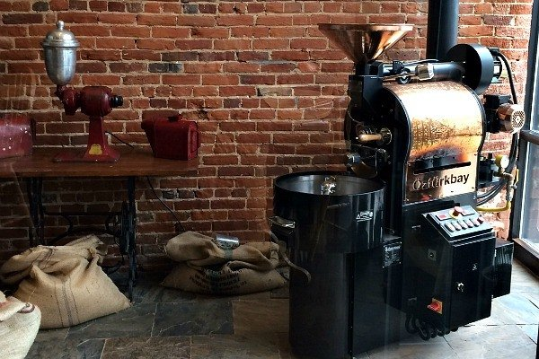 Coffee Roaster at Brumby's Coffeehouse and Pizzeria in Bellville, Ohio
