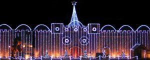 Ghostly Manor Christmas Light Show in Sandusky Ohio