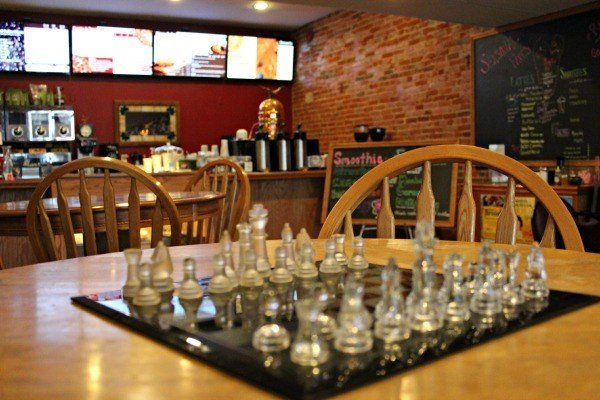 Inside Brumby's Coffeehouse and Pizzeria in Bellville, Ohio