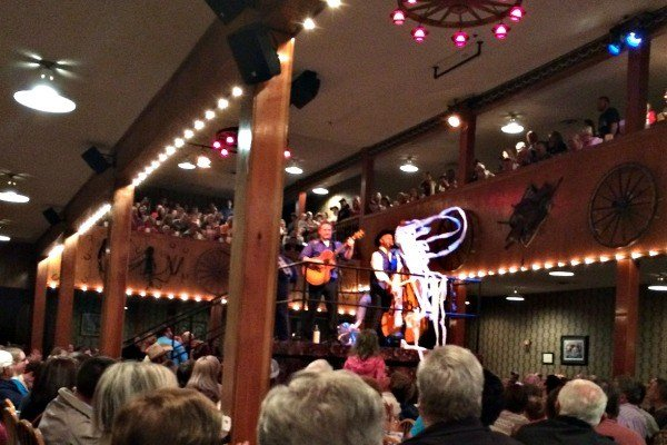 The Mountain Ruckus band during the Pre-Show at Dixie Stampede in Pigeon Forge