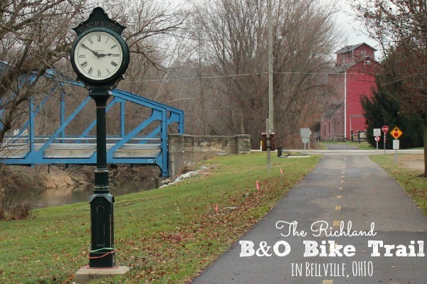 The Richland B&O Bike Trail runs from Mansfield to Butler Ohio in Richland County