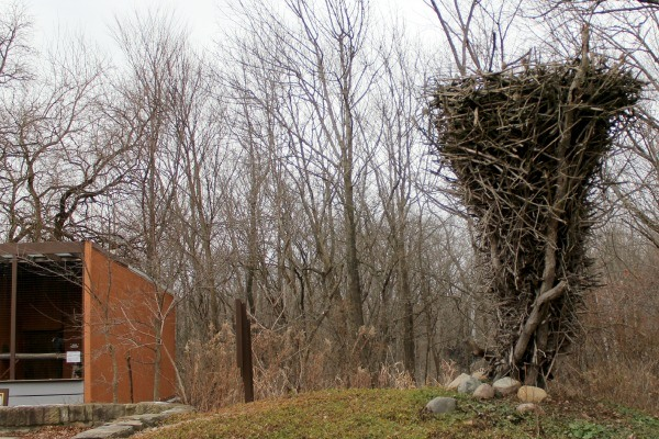 The World's Largest Eagle's Nest Replica in LaGrange, Ohio at the Raptor Center
