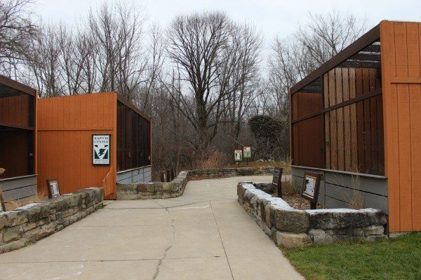 The outside displays at the Raptor Center in Lorain County