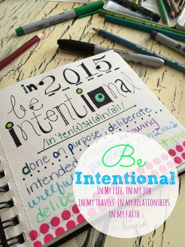 Be Intentional. In my life. In my job. In my travels. In my relationships. In my faith.