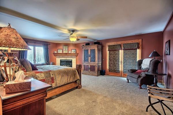 The Master Bedroom at Laurel Run Farm in Hocking Hills.