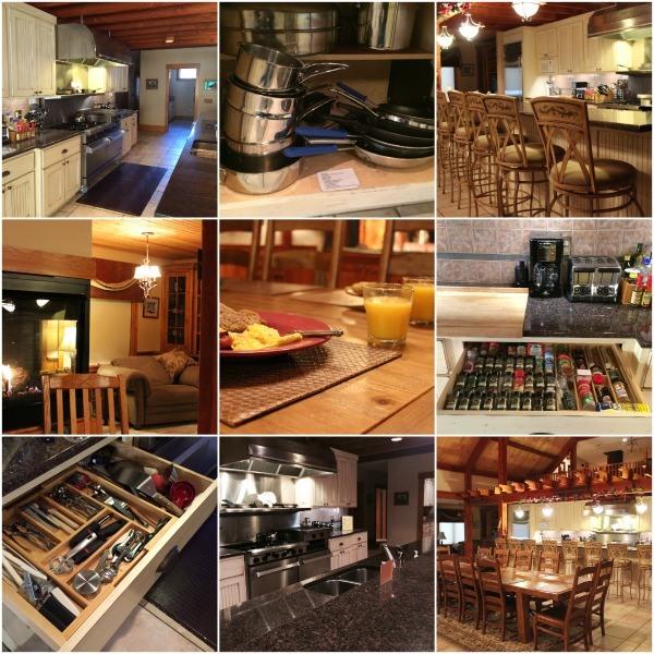 The stocked kitchen at Laurel Run Farm in Hocking Hills