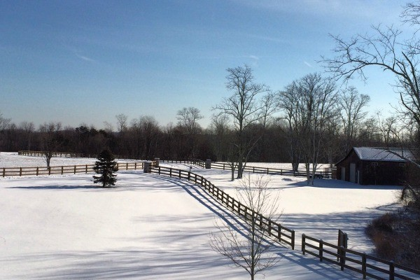 View from the front balcony at Laurel Run Farm