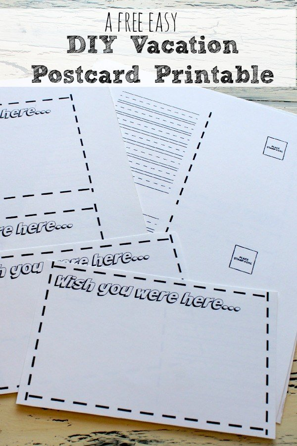 A Free Easy DIY Vacation Postcard Printable