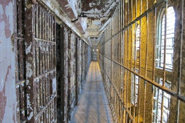 Cell blocks at Ohio State Reformatory in Mansfield, Ohio