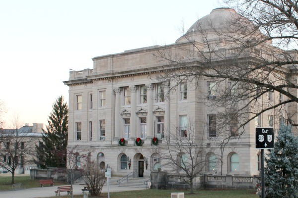The gorgeous Clinton County Courthouse in Wilmington, Ohio offers free tours.