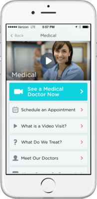 You can speak to a doctor using Doctor On Demand from an iPhone