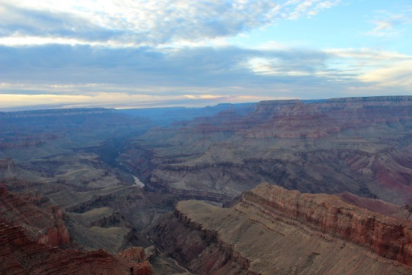 As the Sun sets over the Grand Canyon National Park.