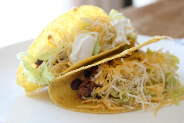 Beef Tacos flavored with Campbell's Mexican Style Soup.