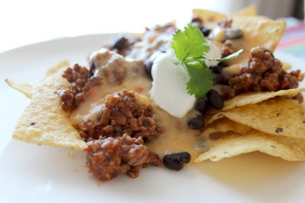 Easy and delicious nachos made using Campbell's Soup for Easy Cooking- Mexican Style Tomato.
