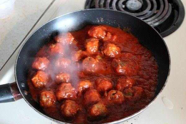 Heating Nate's Meatless Meatballs