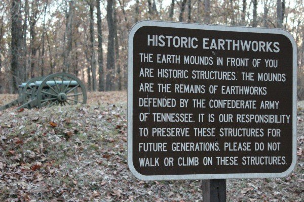 Historic Earthworks at Cheatham Hill in the Kennesaw National Battlefield