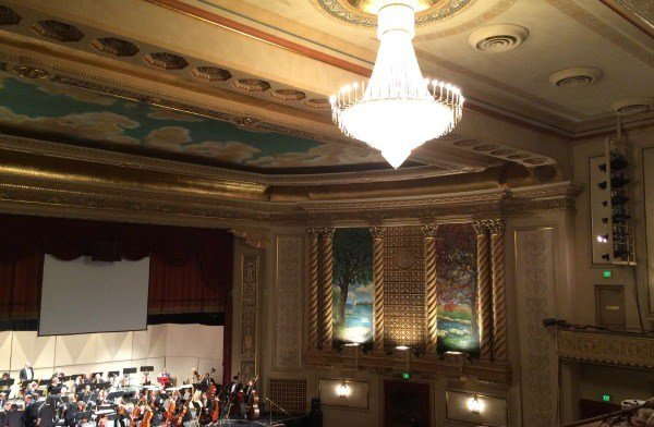 Inside the renovated State Theater in Sandusky, Ohio.