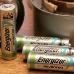 New Energizer EcoAdvanced Batteries hold a charge while stored for up to 12 years- perfect for your emergency kit in case of a power outage.