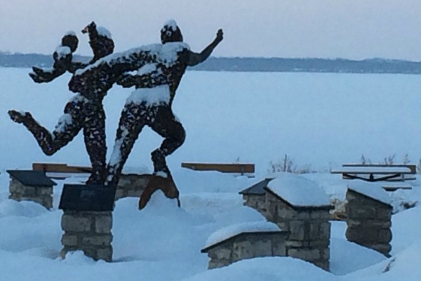 Path to Freedom statue in Sandusky, Ohio.