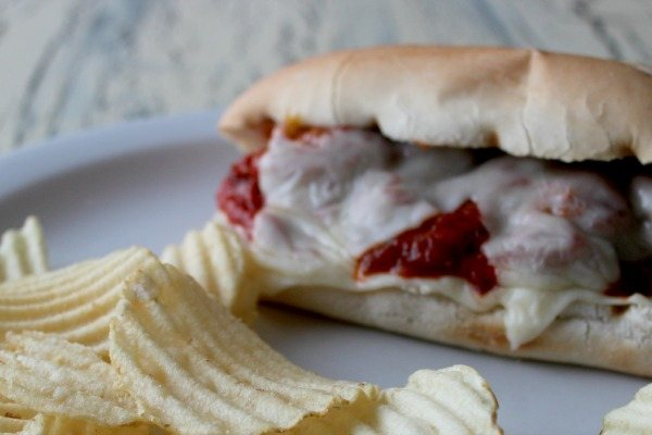 Sub sandwich using Nate's Meatless Meatballs