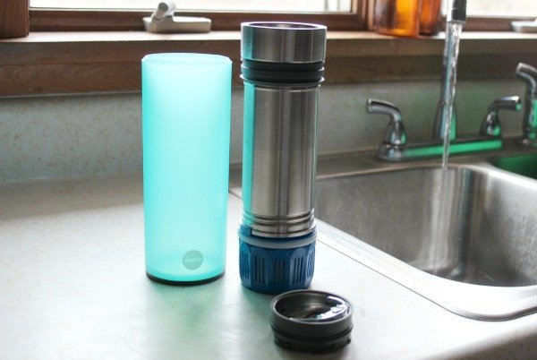 The Grayl Quest Water Filtration Cup to filter Tap Water. Systems are also available for Trail and International travelers.