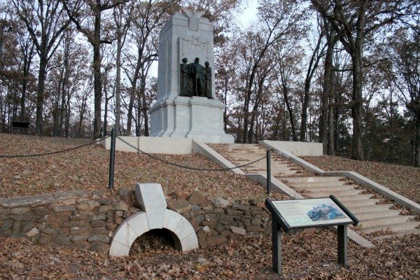 The memorial at Cheatham Hill