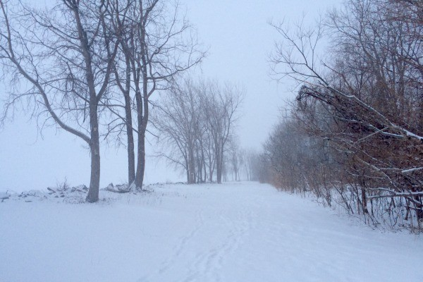 The path to the beach at Sawmill Creek Resort near Sandusky.