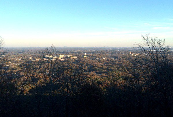 The view of Atlanta from atop Kennesaw Mountain Battlefield