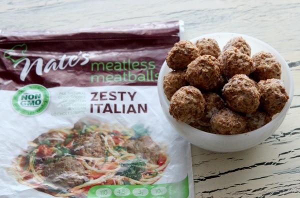 Zesty Italian Nate's meatless meatballs