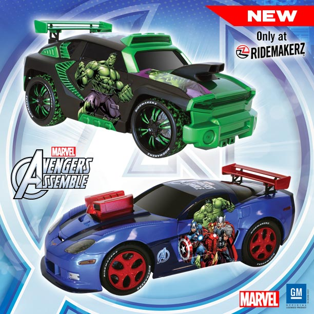 New Marvel RIDEMAKERZ just in time for the Release of the Avengers: Age of Ultron