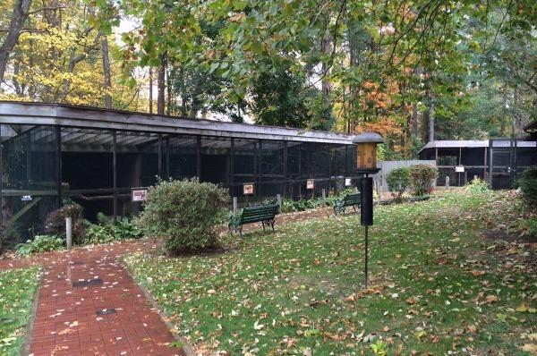 Bird Housing at Ohio Bird Sanctuary in Lexington, Ohio.