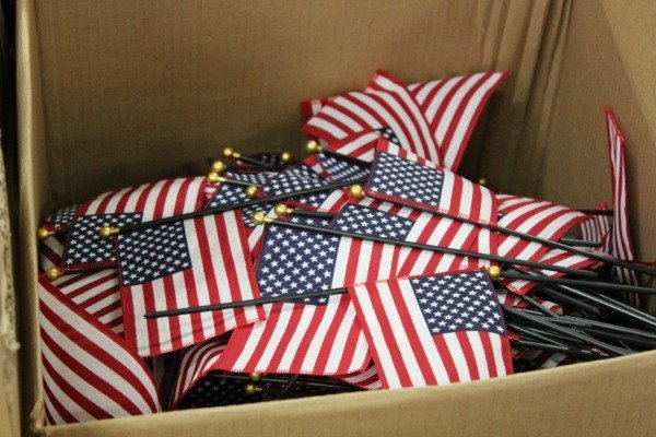 Over 10 million stick flags are produced at the Annin Flag Company in Coshocton, Ohio for residential use.