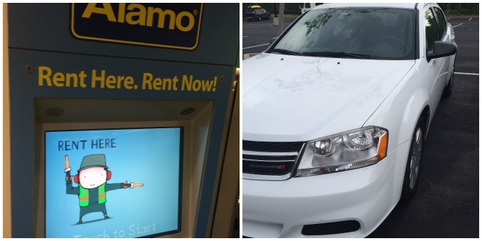 Renting a car from Alamo at the Orlando International Airport