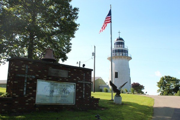 Gospel Hill Lighthouse in Warsaw, Ohio