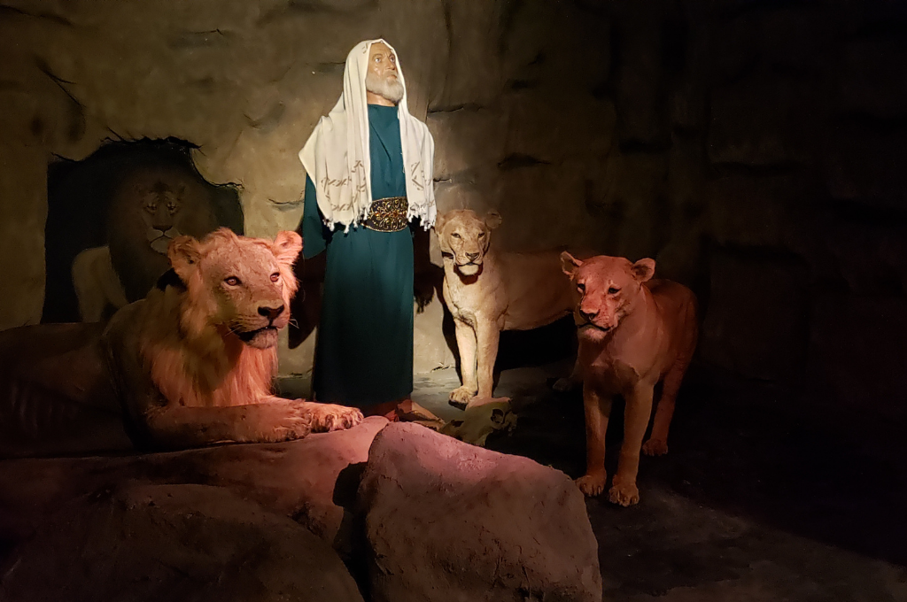 Biblewalk is comprised of tours highlighting wax figures that bring the stories of the bible to life.