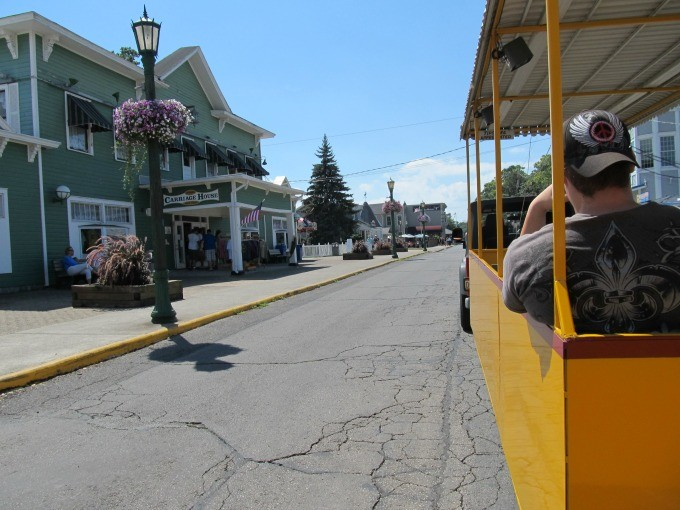 Ride the Put-in-Bay Tour Train for a relaxing overview of the island's attractions.