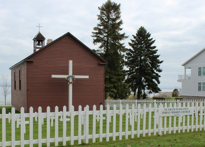 The St. Francis Solanus Indian Mission is the oldest church and building in Petoskey Michigan.