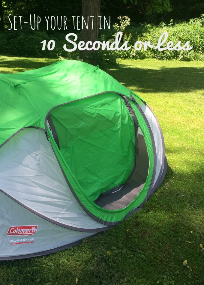 oes the Coleman Pop-up Tent really set up in 10 seconds or less Watch this video to see how easily you can set up camp.