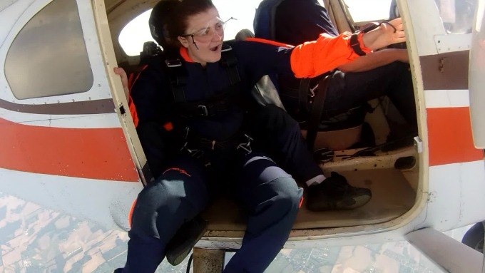 If you're going to go skydiving, eventually you must jump out of the plane.
