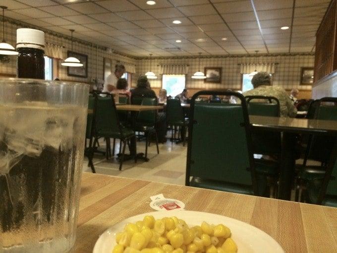 Inside Lyn-Way Restaurant in Ashland, Ohio.