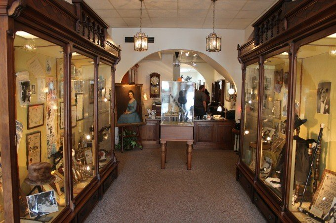 Inside the Ted Lewis Museum in downtown Circleville, Ohio.
