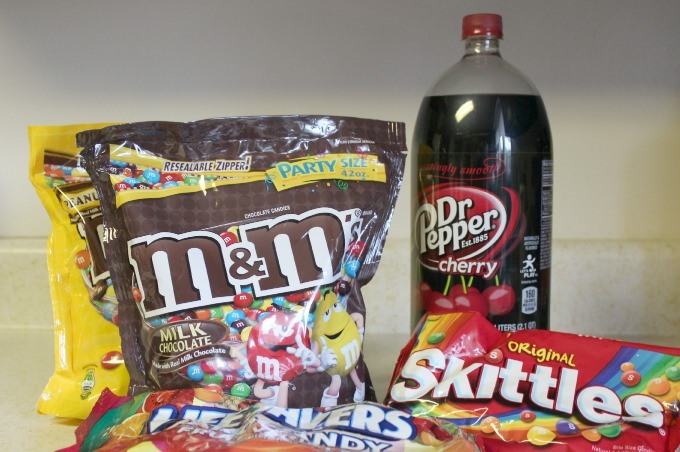 M & M's and other candies from Walmart.