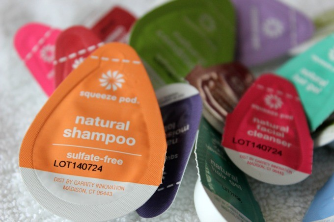 A selection of Squeeze Pod natural products