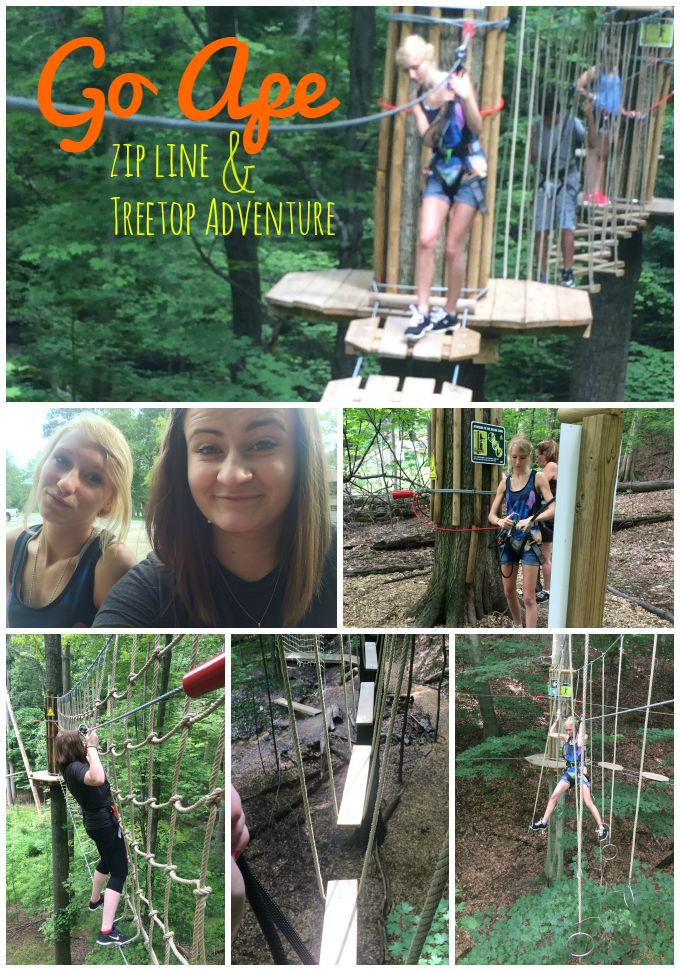 Go Ape Zip Line & Treetop Adventure in Cleveland, Ohio provides zip lines and challenge courses in a natural setting.