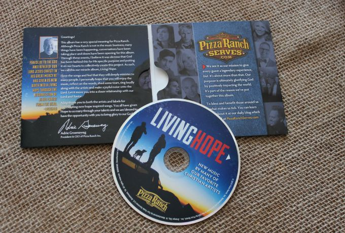 Living Hope CD from Pizza Ranch