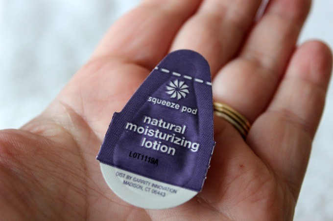 Squeeze Pod natural moisturizing lotion is so easy to open.