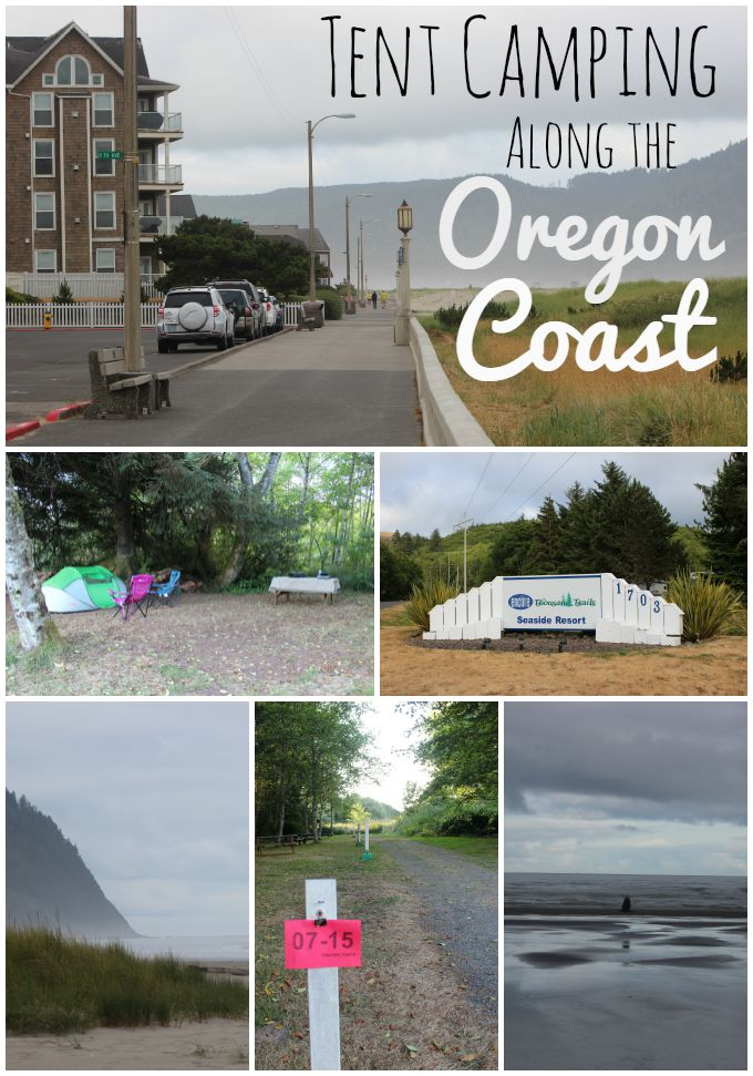 Tent Camping Along the Oregon Coast at Thousand Trails Seaside RV Resort.
