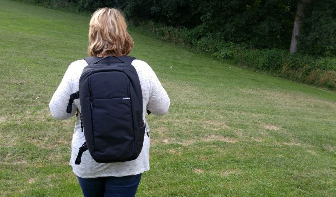 The Incase DSLR Pro Pack comes with a carry handle and straps to wear as a backpack.