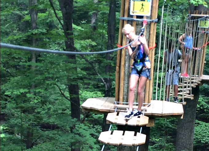 The Ropes Challenge Course at Go Ape Zip Line & Treetop Adventure in Cleveland, Ohio