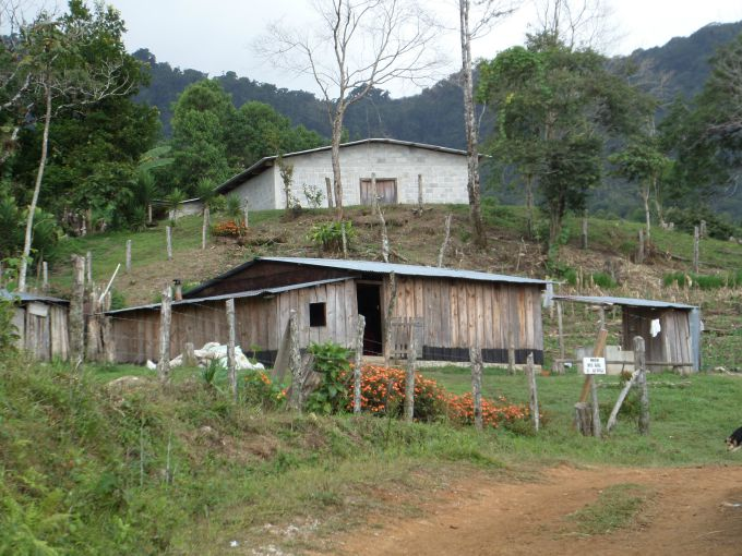 A mountain side village in Honduras.